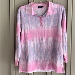 Pink & Purple Collared Shirt